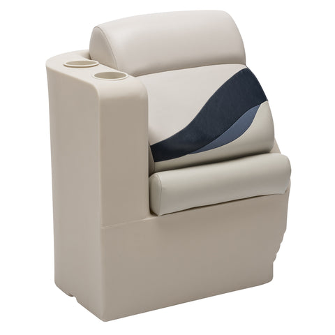 Wise 13006L-986 Premier Pontoon Left Lean Back - Aftermarket Pontoon Furniture