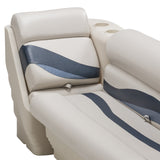 Wise 13006 Premier Pontoon Lean Back & Bench Close Up - Aftermarket Pontoon Furniture