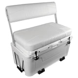 Wise 3330 Ice Cage 105 Qt Swingback Cooler Seat w/ LED Illuminated Lid Powered by Lit Technologies - Center Console Seating w/ Premium Yeti Style Cooler