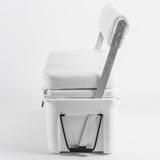 Wise 3330 Ice Cage 105 Qt Swingback Cooler Seat - Center Console Seating w/ Premium Yeti Style Cooler - Side View