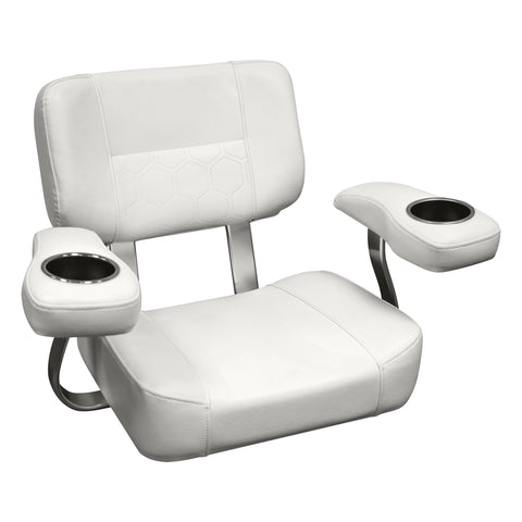 Wise 3366-784 Deluxe Offshore Helm Chair w/ Dual Stainless Drink Holders