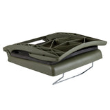 Wise 5410 Folding Plastic Canoe Seat w/ Back Rest - Closed View