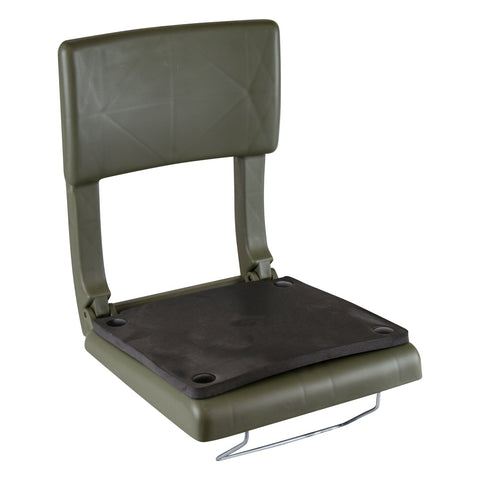 Wise 5410 Folding Plastic Canoe Seat w/ Back Rest