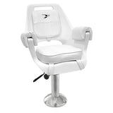 "8WD007-710 Deluxe Pilot Chair & Cushions w/ 15"" Fixed Pedestal & Seat Slide Mount"