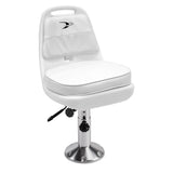 8WD013-6-710 Standard Pilot Chair & Cushions w/ Adjustable Pedestal & Seat Slide Mount