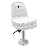 "8WD013-710 Standard Pilot Chair & Cushions w/ 15"" Fixed Pedestal & Seat Slide Mount"