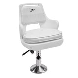 Wise 8WD015-3-710 Deluxe Pilot Chair & Cushions w/ Adjustable Pedestal & Seat Slide Mount