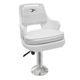 "8WD015-710 Deluxe Pilot Chair & Cushions w/ 15"" Fixed Pedestal & Seat Slide Mount"