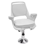 8WD1007-7-710 Captain's Chair & Cushions w/ Adjustable Pedestal & Seat Spider Mount