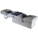 Wise 8WD1033 Contemporary Series Lounge Reclining Back to Back Seat : Run-a-bout / Fish & Ski - Reclined View