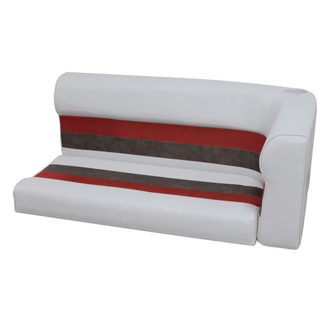 "Wise 8WD107 Deluxe Series Pontoon 46"" Corner Lounge Cushion Set - Left"