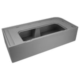 Wise 8WD109-221 Deluxe Series Pontoon Corner Lounge Base Only - Grey