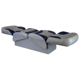Wise 8WD1225 Bayliner Series Back to Back Z-Bar Lounge Reclining Seat Full Reclined View
