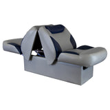 Wise 8WD1225 Bayliner Series Back to Back Z-Bar Lounge Reclining Seat - Mid Reclined View