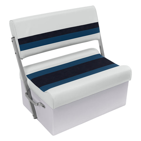 Wise 8WD125FF-1008 Deluxe Pontoon Series Flip Flop / Swingback Bench Seat - Aftermarket Pontoon Furniture