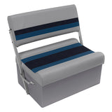 Wise 8WD125FF-1011 Deluxe Pontoon Series Flip Flop / Swingback Bench Seat - Aftermarket Pontoon Furniture