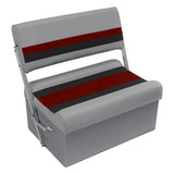 Wise 8WD125FF-1012 Deluxe Pontoon Series Flip Flop / Swingback Bench Seat - Aftermarket Pontoon Furniture