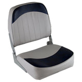 Wise 8WD734PLS-660 Low Back Boat Seat - Grey / Navy
