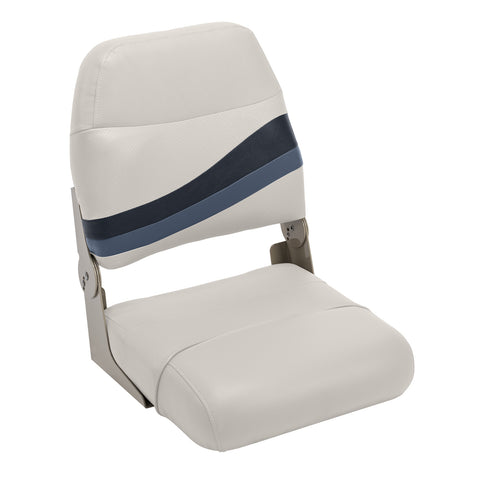 Wise BM1147-986 Premier Series High Back Fold Down Seat - Aftermarket Pontoon Furniture