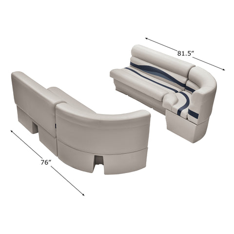 Wise WS14032-986 Premier Series Pontoon | Large Bow Radius Front Group
