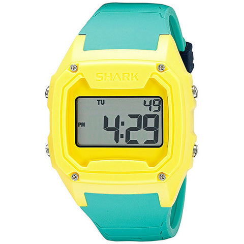 Freestyle Killer Shark Silicone Watches in yellow:teal
