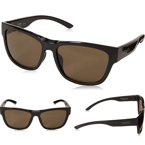 Smith Ember Sunglasses in black:polar gry/grn