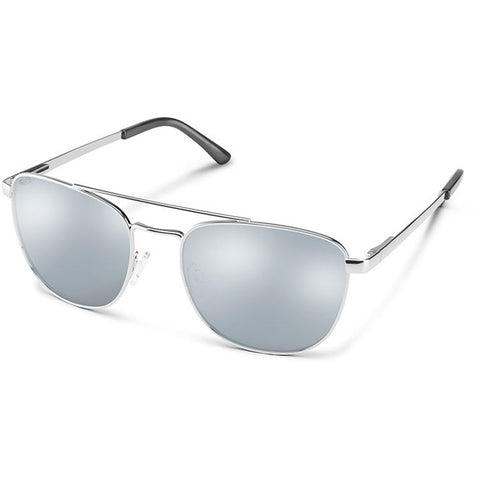 Suncloud Fairlane Polarized Sunglasses in matte silver:polarized silver
