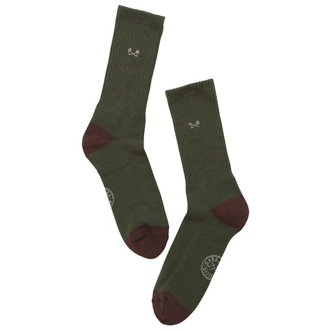 Dark Seas Mens Mess Hall Socks in One Size:army
