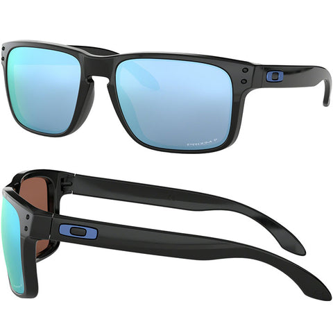 Oakley Holbrook Sunglasses in polished black:Prizm deep H2O polarized