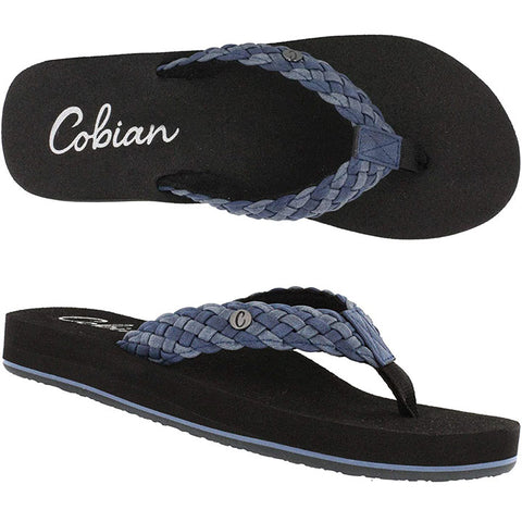 Cobian Womens Braided Bounce Sandals in 6.womens:indigo