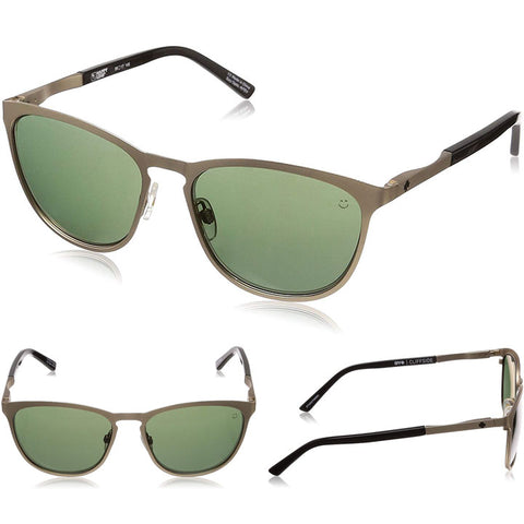 Spy Cliffside Sunglasses in matte gold:Happy Grey/Green