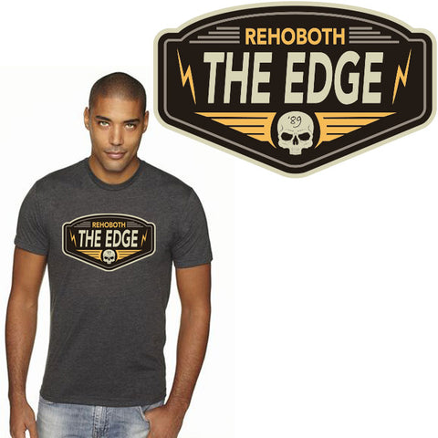 Edge Biker T-Shirts in Small:charcoal heather