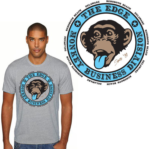 Edge Monkey Biz 2 T-Shirts in small:heather  grey