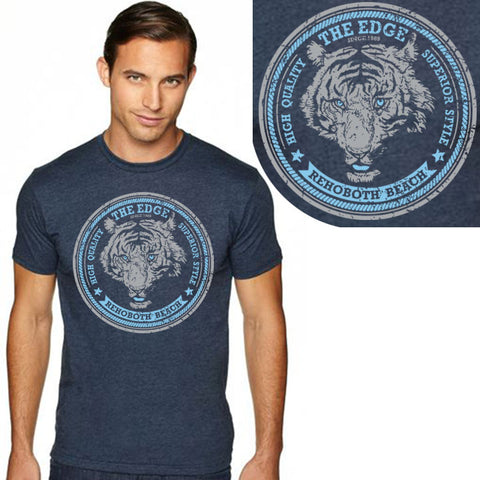 Edge Tiger T-Shirts in X-Large:navy heather