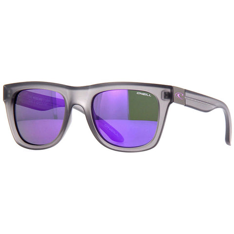 O'Neill Headland Sunglasses in matte grey:Purple mirror