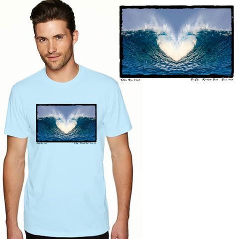 Edge Heart Wave T-Shirts