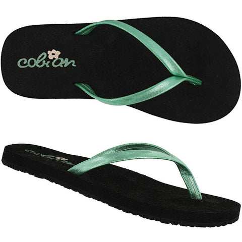 Cobian Kids Lil Shimmer Sandals in 9/10.kids:mint