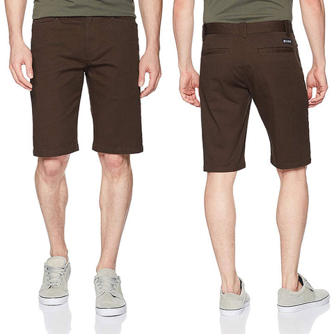 Element Mens Sawyer Shorts in Size 29:brown