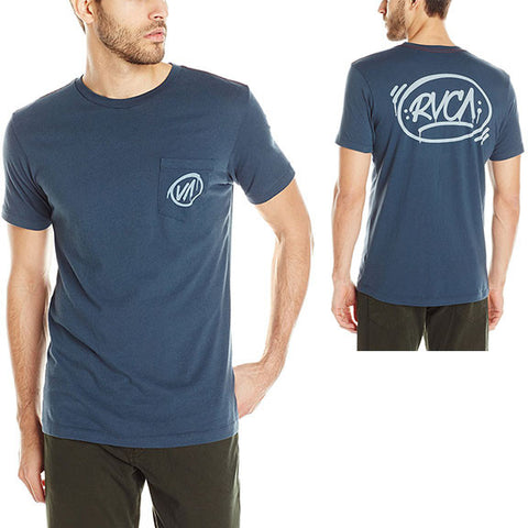 RVCA Mens Barrio T-Shirts in small:midnight blue