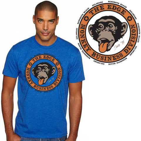 Edge Monkey Biz 2 T-Shirts in Small:royal heather