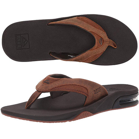Reef Mens Fanning Leather Mens Sandals