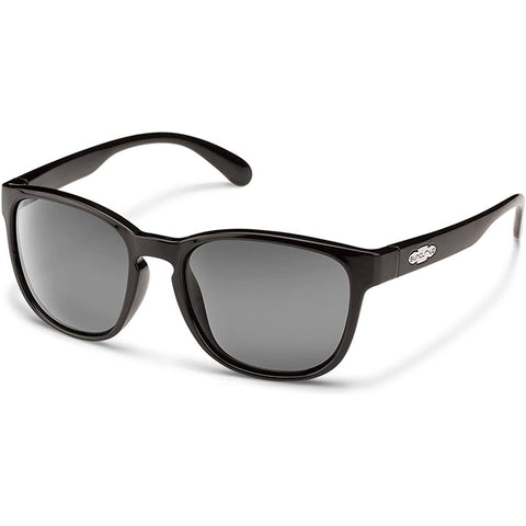 Suncloud Loveseat Polarized Sunglasses in black:green polarized