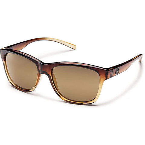 Suncloud Pageant Polarized Sunglasses in brown fade:sienna mirror
