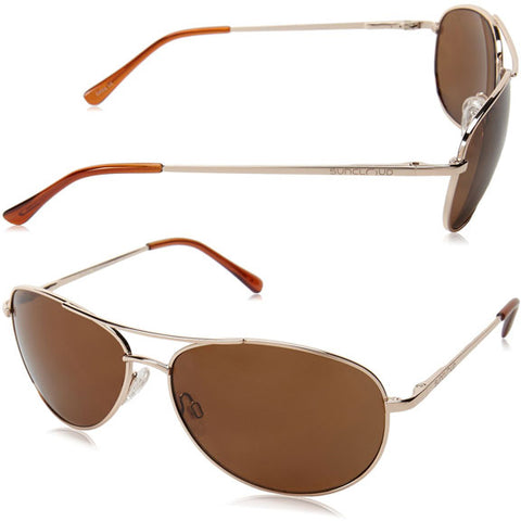 3cff2fab205 Suncloud Patrol Polarized Sunglasses in gold brown polarized