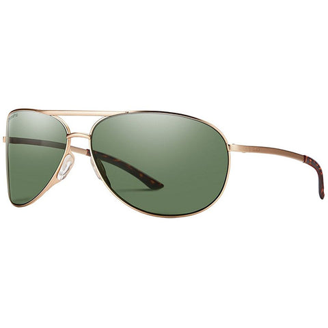 Smith Serpico 2 Sunglasses in matte gold:polar gray green