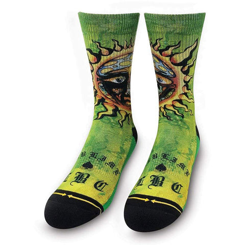 Merge4 Mens Classic Crew Socks in Large 9-12:Sublimde sun