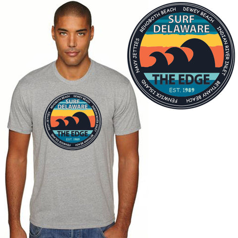 Edge Surf Delaware T-shirts in Small:grey heather