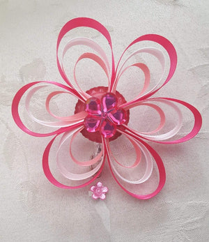 Pink Loopy Flower Badge