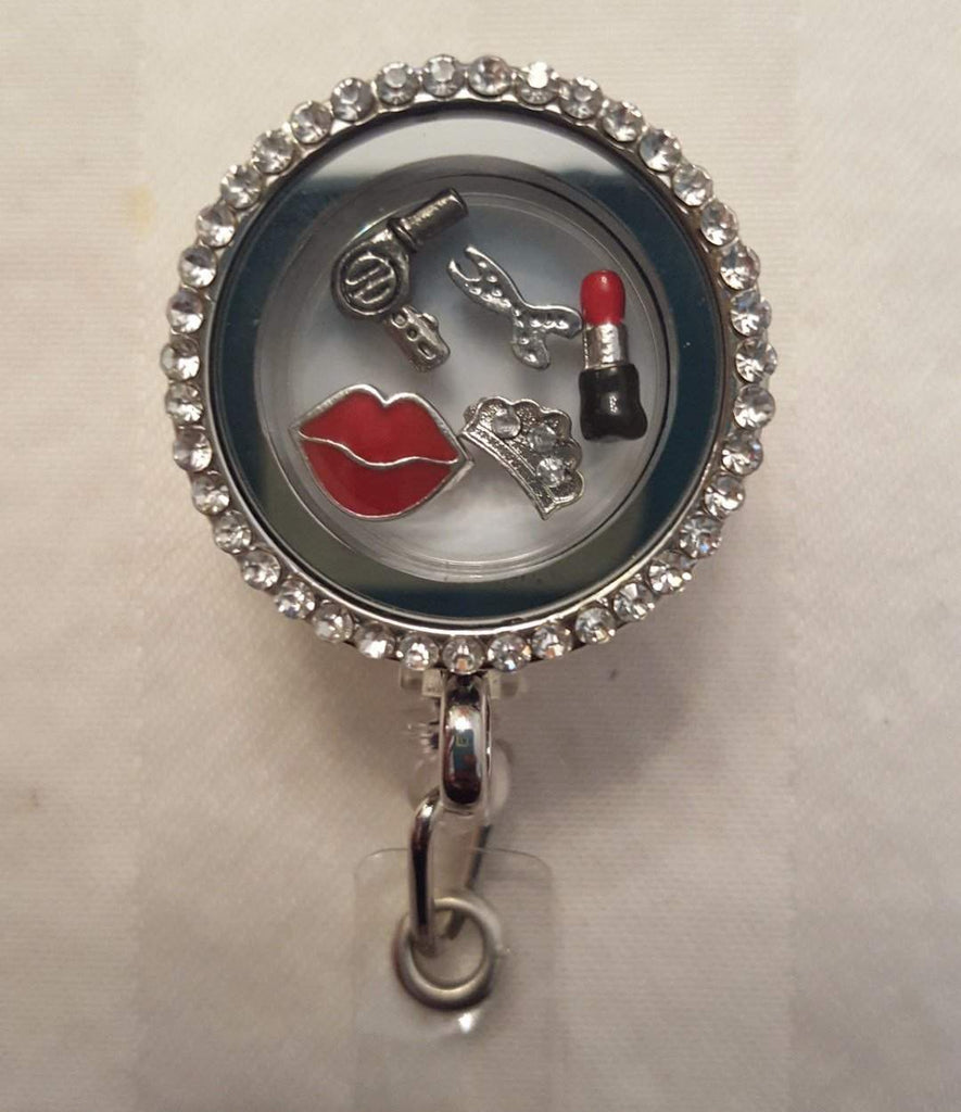 Beauty Queen Floating Charm Badge