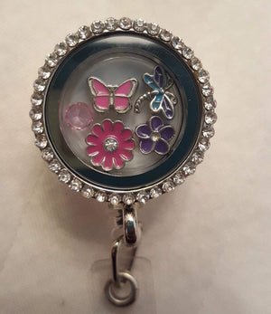 Spring Time Floating Charm Badge
